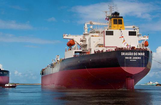 Viagem inaugural do navio suezmax Dragão do Mar.