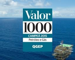 QGEP conquista o 1º lugar do setor no Prêmio Valor 1000